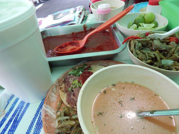 Tacos De Birria Con Consome