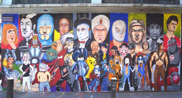Te presentamos el mural de los h roes de la historieta for El mural pelicula
