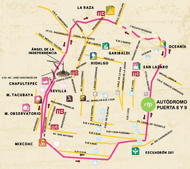 Circuito Bicentenario Expreso : Regresa seguro a casa después del corona capital rutas