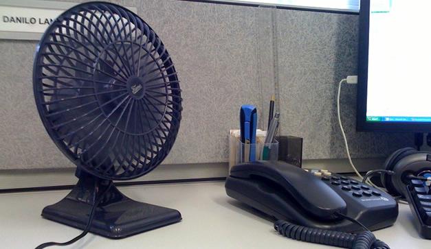7 gadgets para oficinistas chilango for Ventiladores para oficina