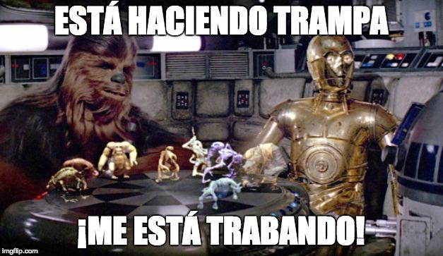 chewbacca meme español