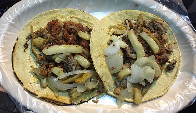 Tacos trasnochados chilango for Comida francesa df