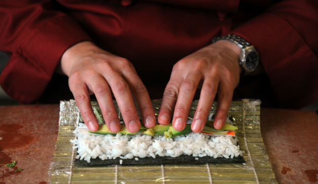 Hacer sushi en DF