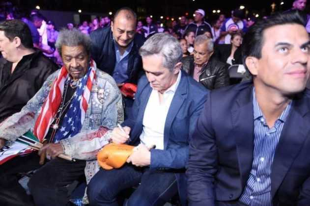 Mancera y Don King en el Zócalo