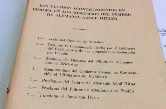 Folleto Hitler