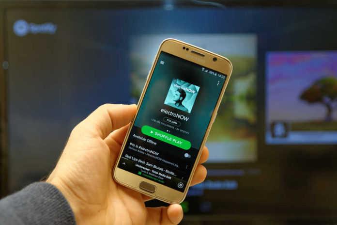 Spotify en un Android