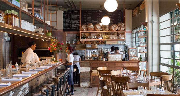 Interior del restaurante Lardo en la Condesa