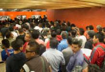 Un día normal en la línea 7 del Metro