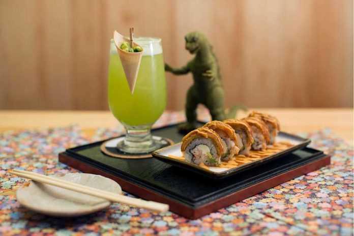 Trago Godzilla de Kaito Izakaya