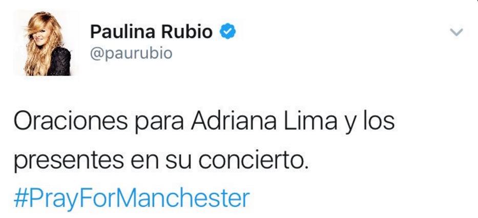 Tuitazo de Paulina Rubio