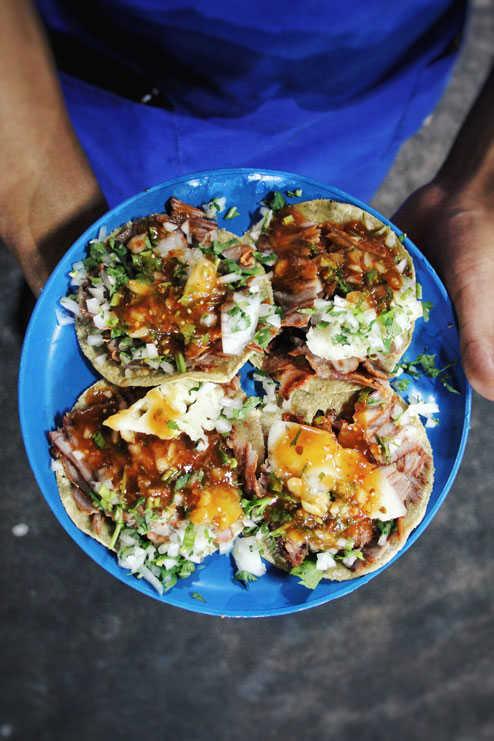 Cuarteto de tacos al pastor