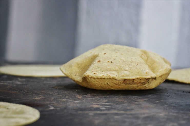 Tortilla infladita de Maizajo