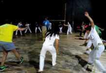 Clase de Capoeira con Arame
