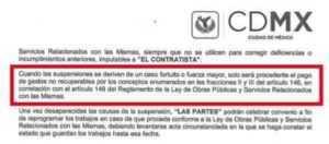 Contrato Secretaría de Obras