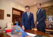 Leonardo DiCaprio con EPN