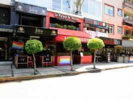 Polanquito bares bandera gay