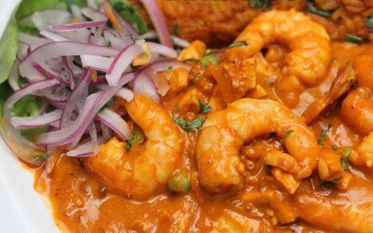 Ají de camarones de Asia Perú