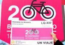 Boleto Metro bicicleta