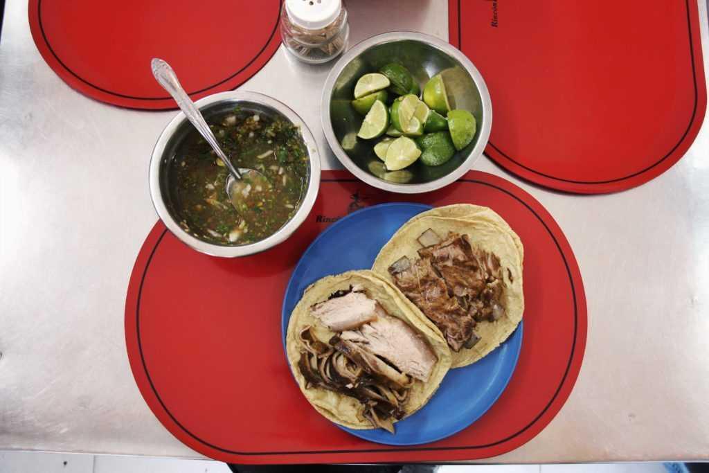 Tacos de carnitas de El Rincón Tarasco