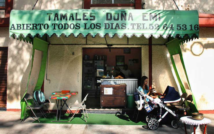 Tamales Doña Emi en la Roma