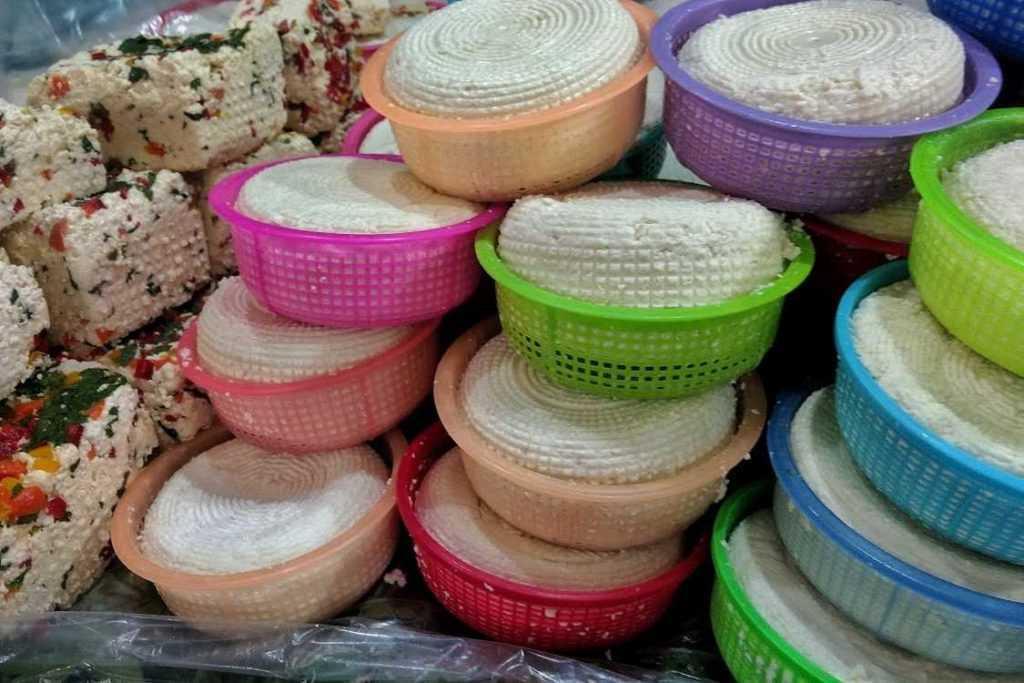 Queso panela del mercado de Jamaica