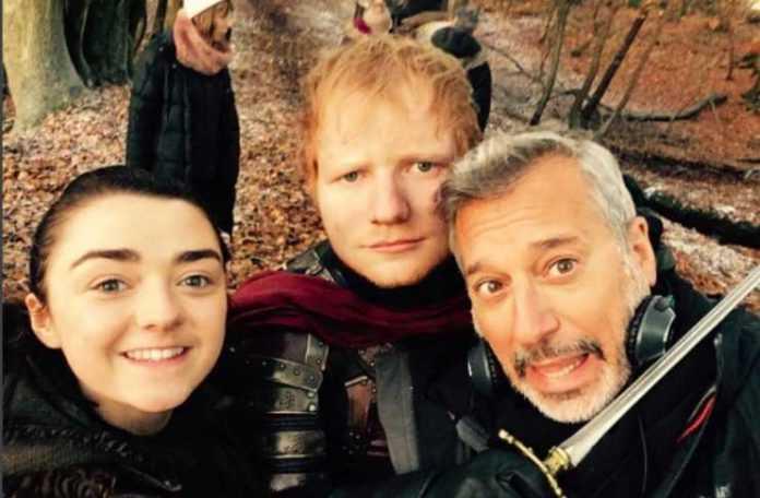 Ed Sheeran fue la sorpresa de la penúltima temporada de Game of Thrones