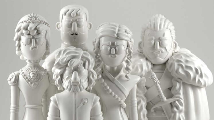 Ilustración de personajes de GoT