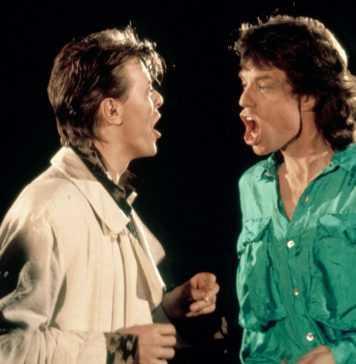 Mick Jagger y David Bowie