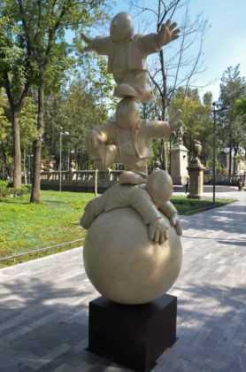 En total la expo de Timo tiene 15 mega esculturas