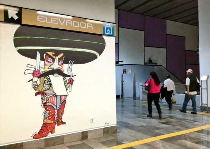 caricaturas en la estación zapata