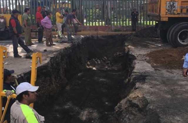 hundimiento eduardo molina excavación