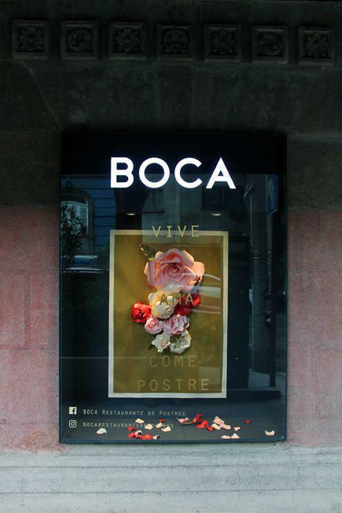 Escaparate de BOCA