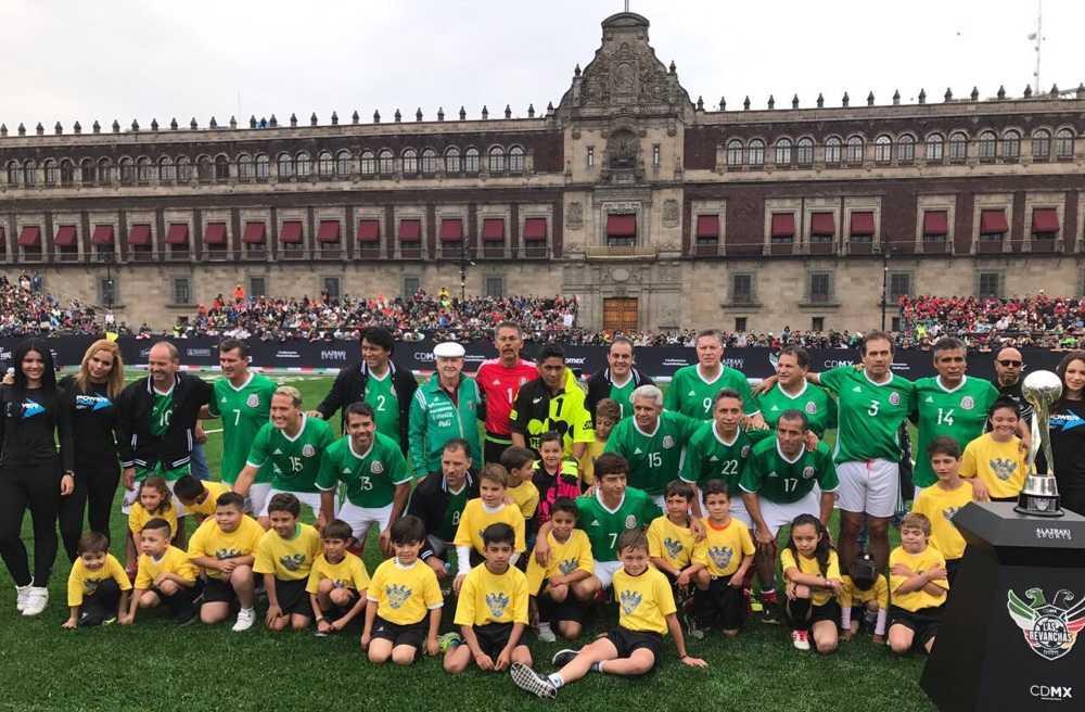México-Alemania 98, desquite en el Zócalo