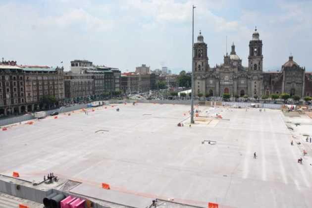 zócalo obras panoramica catedral