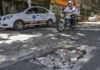 Baches en calles de la colonia Juárez y Condesa