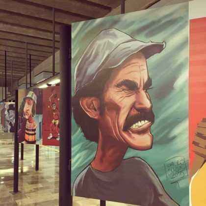 En total hay más de 60 caricaturas de Chespirito y sus personajes