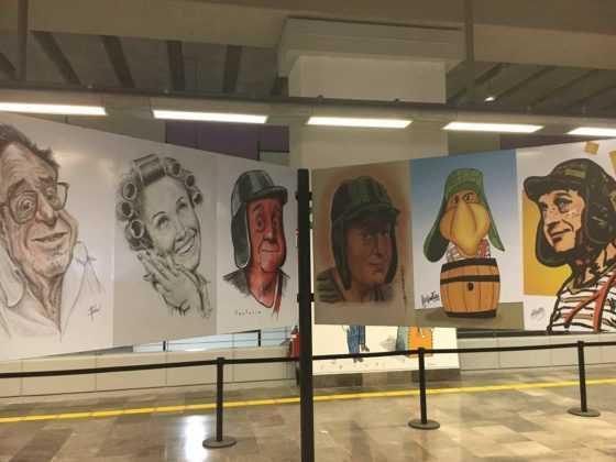 Hay imágenes de personajes como El Chavo, El Chapulín Colorado, Doña Florinda y más.