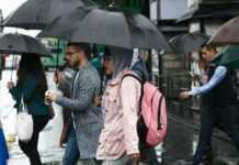La lluvia con granizo continuará en el sur y poniente la ciudad, según Protección Civil.