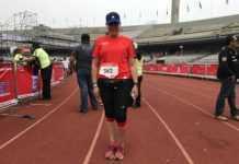 Éste fue el segundo maratón de Nancy y, a pesar de estar lesionada, lo terminó.