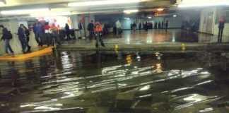 Lluvias en metro Pantitlán