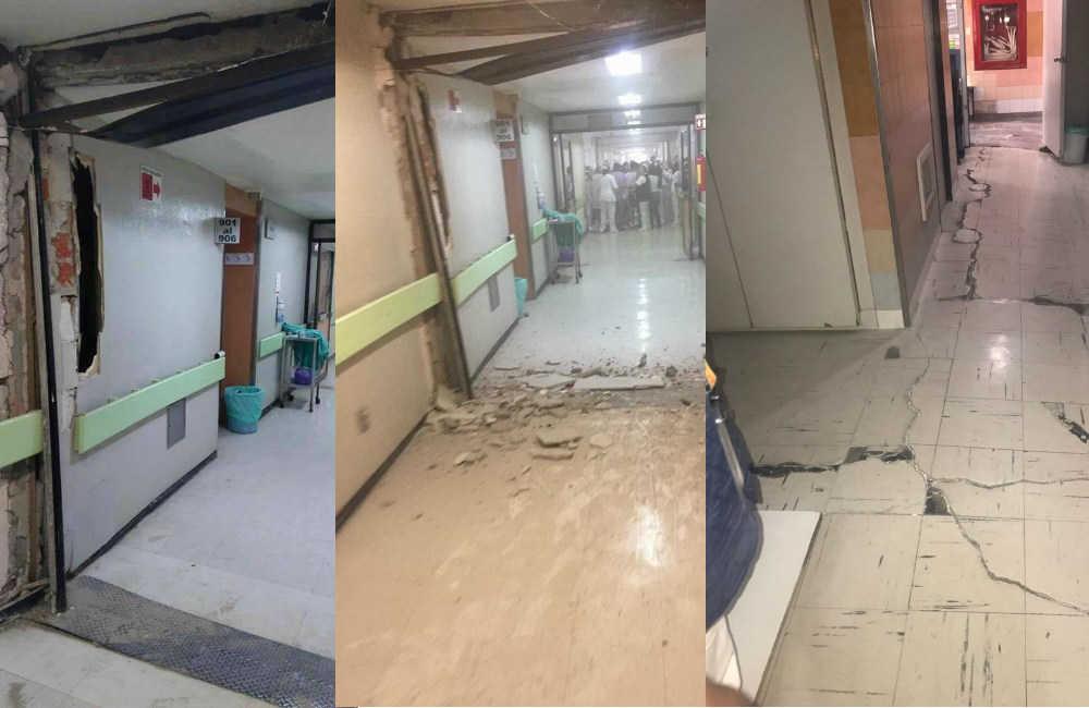 Hospitales da ados por el sismo hicimos un recorrido - Que es un piso vinilico ...