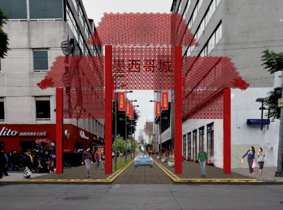 Ésta será la entrada al Barrio Chino a partir del próximo año.