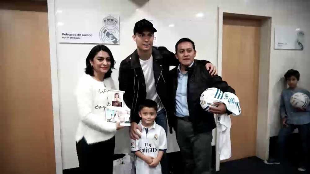 El sueño de estar cerca de Cristiano Ronaldo llegó
