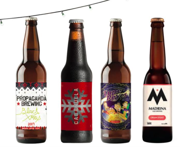 Cervezas navideñas