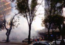 Incendio en Insurgentes.