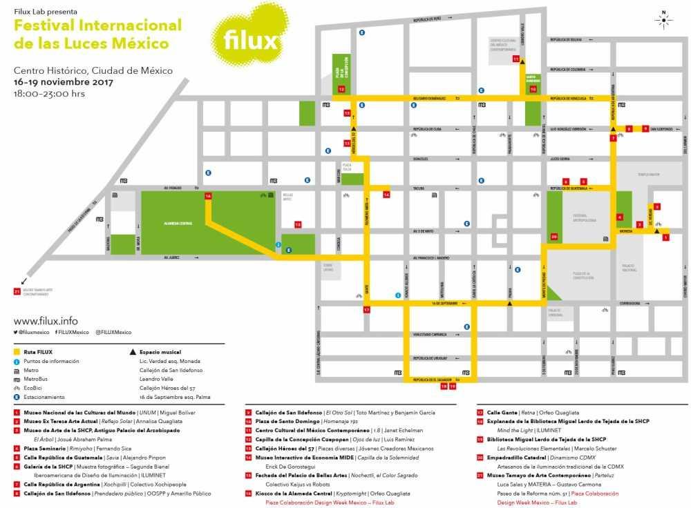 el FILUX 2017 mapa