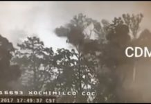 Se registra incendio en Xochimilco.