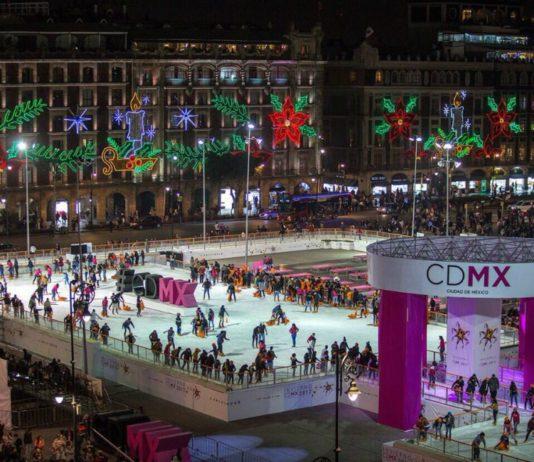 La pista de hielo del Zócalo tendrá espectáculo de patinaje artístico