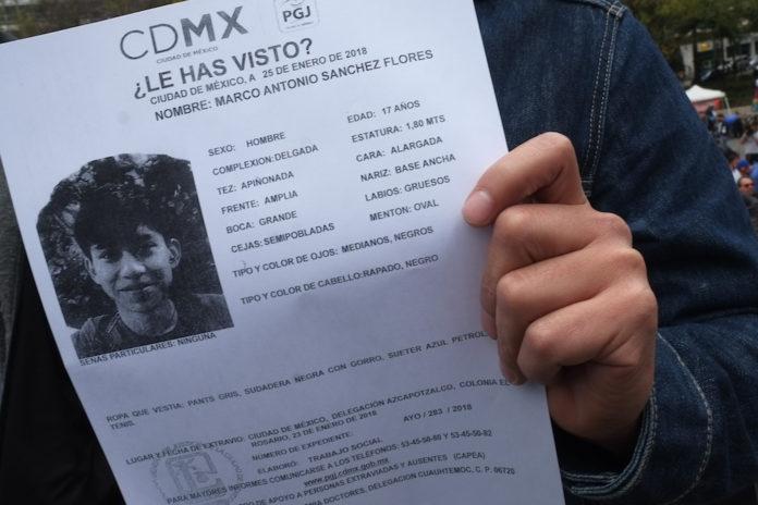 Desaparición de Marco Antonio