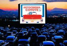 Cartelera del autocinema coyote en enero
